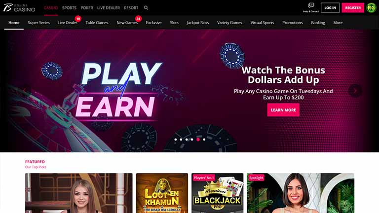 Borgata Online Casino Website