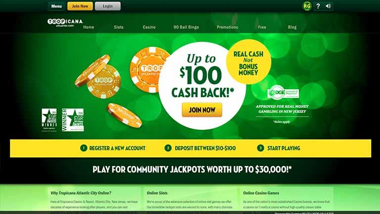 Tropicana Online Casino Website